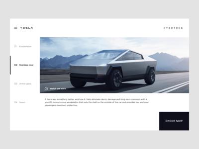 Tesla Cybertruck landing page