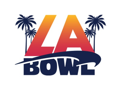 LA Bowl sports design sports branding college football graphic design type identity branding identity labowl logodesign logo design branding design branding