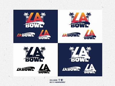 LA Bowl Brand & Color Variations brand identity logo sports football agency creative branding graphic design design