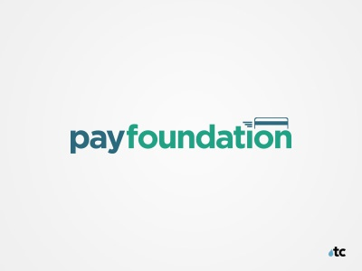 Pay Foundation startup business logo small business banking branding design concept graphic design