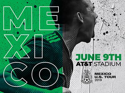 Mextour2019 att stadium dallas football mextour typography illustration creative soccer marketing graphic graphic design design