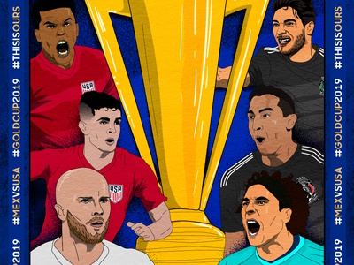 Gold Cup Soldier Field Final creative agency social media poster creative branding agency sports development football campaign gold cup graphic soccer vector illustration design graphic design