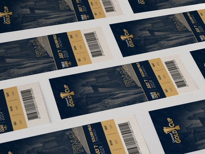 Gold Cup Tickets thirsty campaign ticket print agency creative soccer marketing branding graphic design design