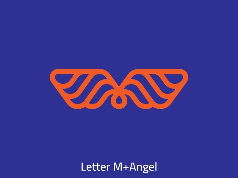 Letter M & Angel