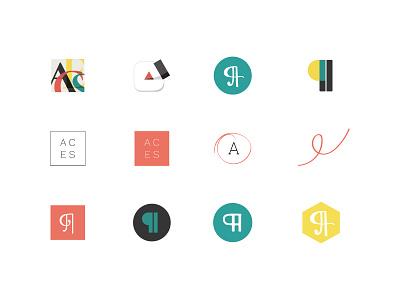 Logo Concepts craftedbyclover branding logo