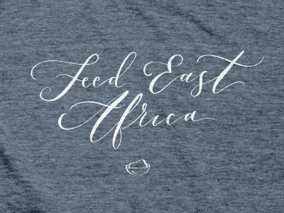 Feed East Africa apple pencil procreate app procreate ipad pro design typography lettering calligraphy handlettering