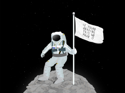 Senior Hoodie Design detail texture spacesuit moon landing we made it space astronaut