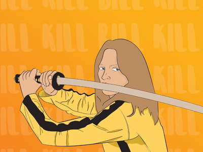 Kill Bill gradient illustration kill bill