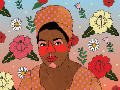 Maya Angelou abstract flowers pattern colorful colourful woman gradient illustration maya angelou