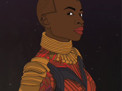 Okoye - Black Panther black superhero supershero black panther okoye illustration marvel