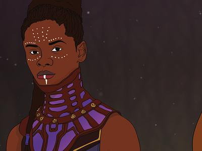 Shuri - Black Panther black superhero supershero shuri black panther illustration marvel