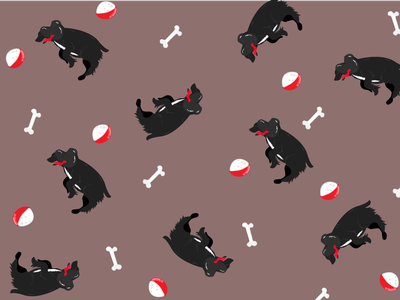 Artboard 1 dog wallpaper pattern adobe illustrator illustration design
