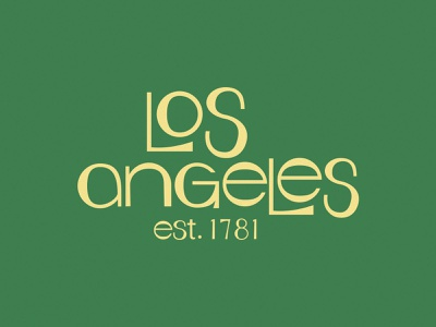 Los Angeles lettering 60s vintage thirsty logo design logo type design type los angeles