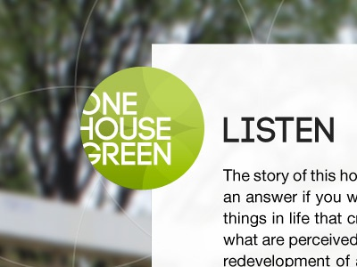 One House Green green logo home builder