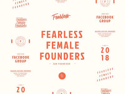 Fearless Female Founders pro-bono women entrepreneur female feminist logomark lettering typography design logo design logo branding