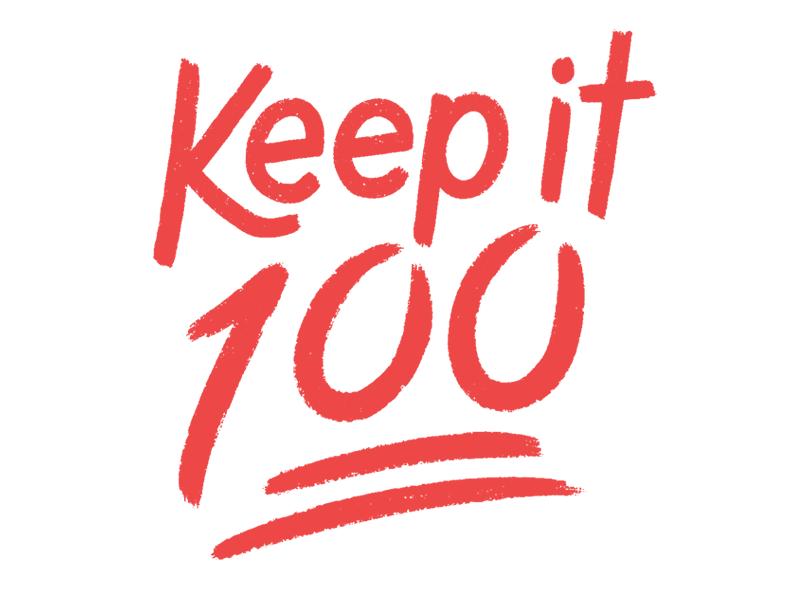 Keep it 💯 100 daily type handdrawn type handdrawntype type emoji handdrawn lettering typography