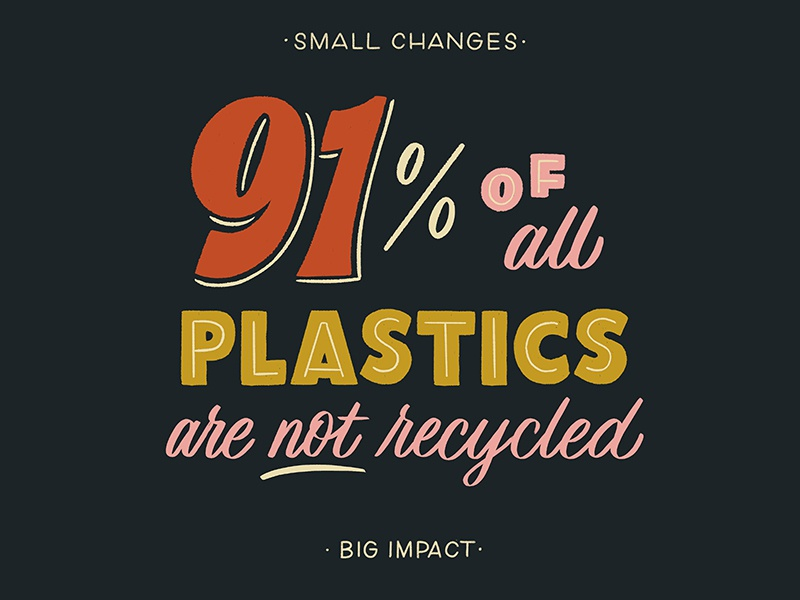 Small Changes, Big Impact series zero waste environment eco friendly handdrawntype handdrawn type lettering typography