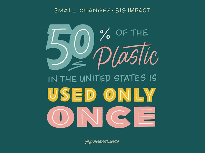 Small Changes, Big Impact series zero waste environment eco friendly daily type handdrawntype type handdrawn lettering typography