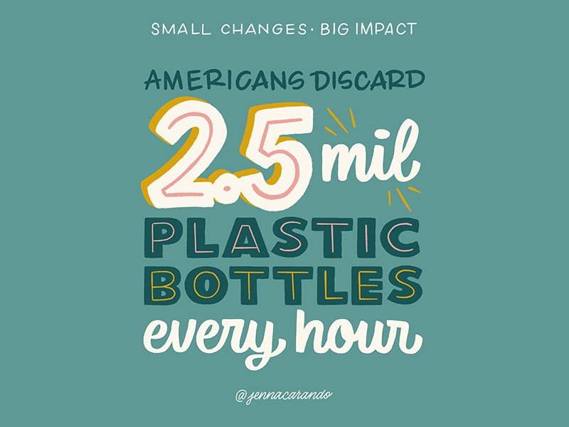 Small Changes, Big Impact environment zero waste eco friendly handdrawn type daily type script handdrawntype type handdrawn lettering typography