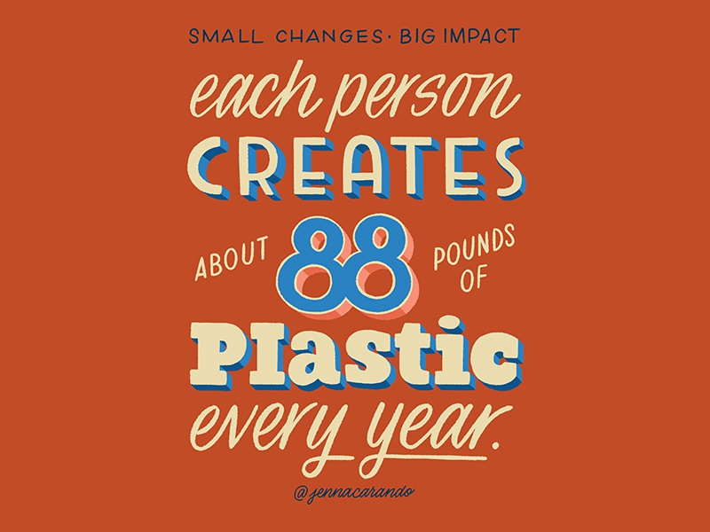 Small Changes, Big Impact series zero waste environment eco friendly daily type handdrawn type script handdrawntype handdrawn type lettering typography