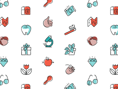Illustrations small illos icons rebrand pattern illos illustration