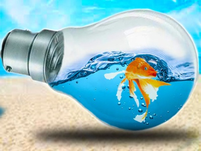 water splash in bulb illustration illustrator
