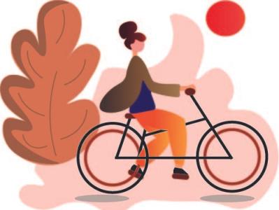 cycleing girl illustration art illustration illustrator