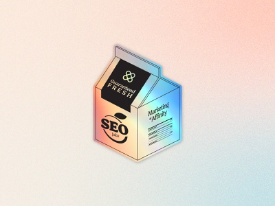 SEO Juice seo juice sticker marketing illustration