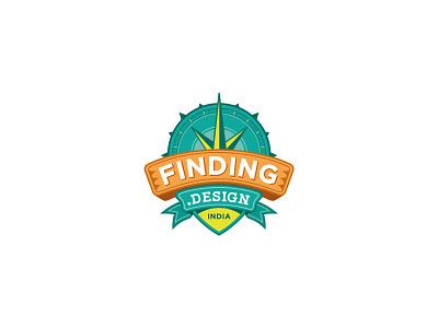 Finding Design Logo identity crafts art finding design logo travel project indian design