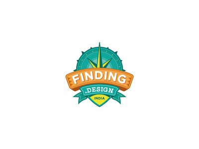 Finding Design Logo identity crafts art finding design logo travel project indian design