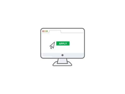 Apply form apply imac character website illustration