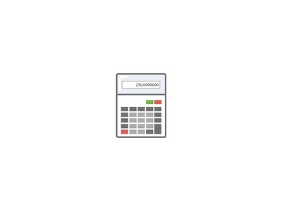 Calculator casio icon calculator retro website illustration