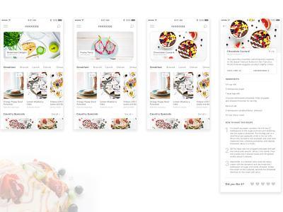 Fooooode App ui foodie principle recipe food interaction app