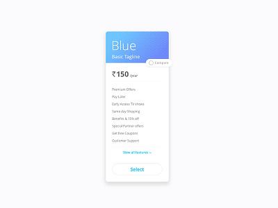 Premium Plans interface ui upgrade premium cards membership plan
