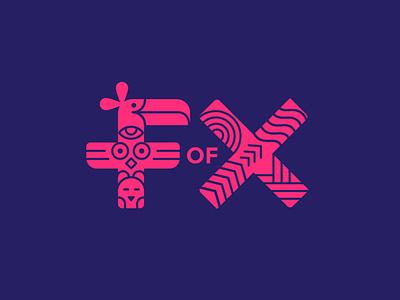 F of X Identity identity branding festival logo