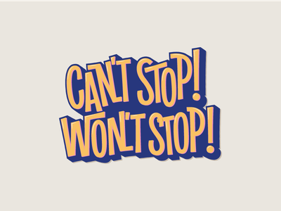 Can't! quote stickers illustration typography lettering
