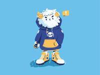 Lil  Brother Yeti sneakers fashion yeti mascot fantasy monster playful cute illustrator character illustration