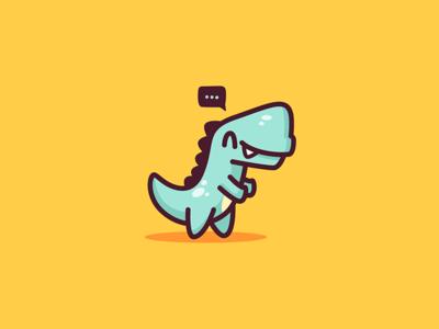 Dino Hug blue yellow illustrator mascot logo illustration trex dino character cute dinosaur