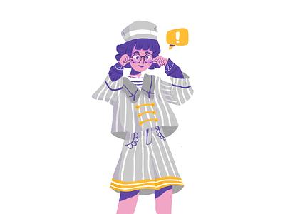 A GIrl playful eyeglasses casual girl illustration outfit procreate girl illustrator character illustration