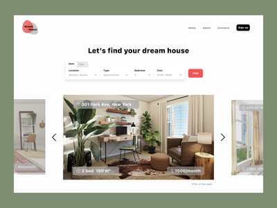 Landing page for a rental service dailyui 003 day3 dailyui