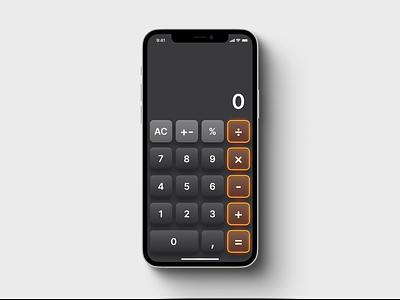 Mobile calculator calculator dailyui 004 day4 dailyui