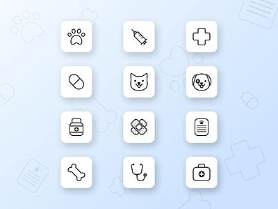 Vet icon pack veterinary icons pets vet