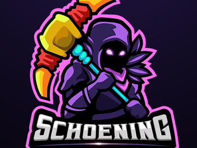 Raven skin mascot for  Schoening