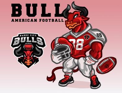 Bull American Football - sports mascot
