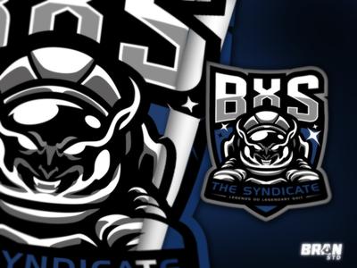 BXS - Evil astrounot  mascot logo