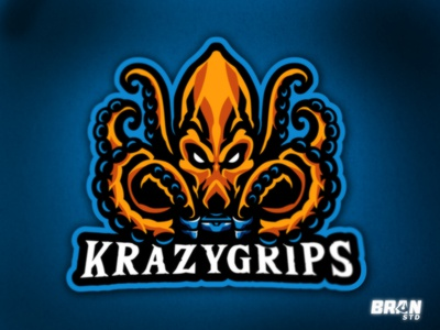 KrazyGrips - Octopus gaming logo
