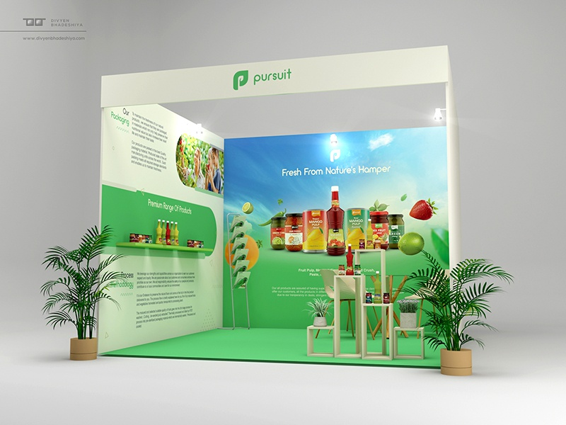 Exhibition Stall Designer Job : Exhibition stall design by divyen bhadeshiya dribbble dribbble