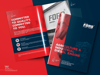 Brochure Design for Ford Industries factory industry catalog design branding brochure design