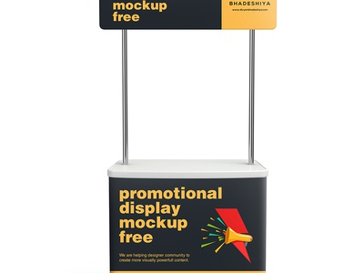 Free PSD - Promotional Display mockup stand display promotional psd mockup free