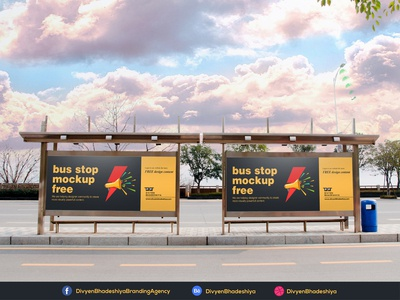 PSD Free Bus Stop Mockup 1 Download download psd free bus stop mockup